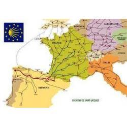 Carte des chemins en Europe